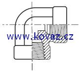 DDM - hydraulický 90°úhlový adaptér