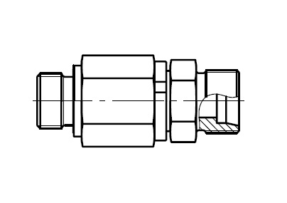 DG 102-M - hydraulické přímé rotační šroubení s ložiskem