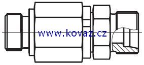 DG 102-R - hydraulické přímé rotační šroubení s kulovým ložiskem