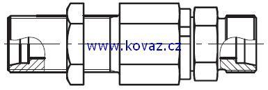 DG 107 - rotační šroubení do panelu s kulovým ložiskem
