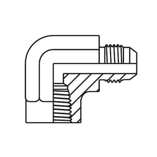 DMTX - hydraulická 90°úhlová spojka Triple-Lok® 37°