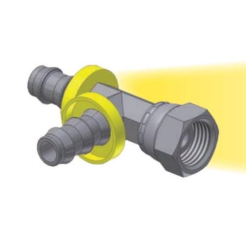 DR - Push-Lok koncovka T nástrčná s hadicovým nátrubkem