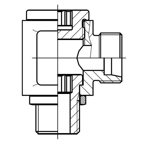 DSVW-R - nízkotlaká stavitelná 90°úhlová přípojka