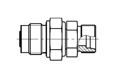 DVGE-M - hydraulické přímé rotační šroubení s kluzným ložiskem