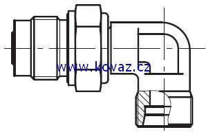 DVWE-R - rotační 90°úhlové šroubení s kluzným ložiskem