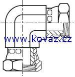 E6MK4 - hydraulický 90°úhlový adaptér s otočnou maticí Swivel