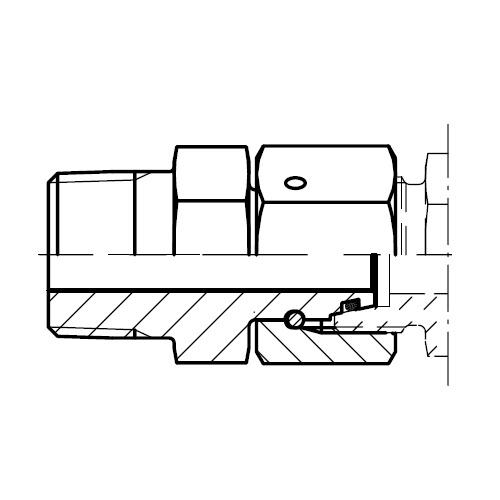 EGE-NPT - hydraulické přímé hrdlo šroubení s těsnícím kuželem
