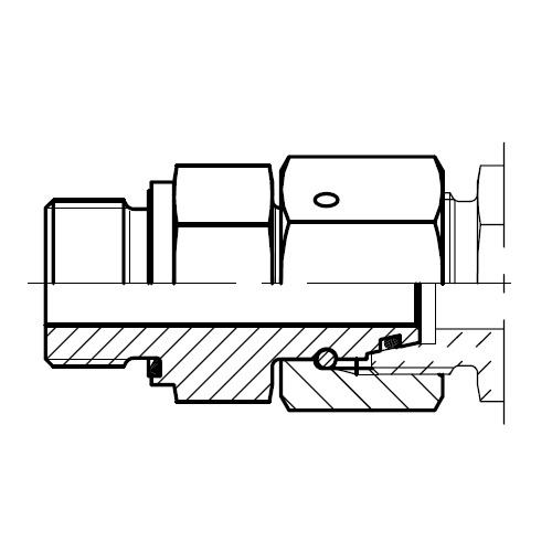 EGE-R-ED - hydraulické přímé hrdlo šroubení s těsnícím kuželem