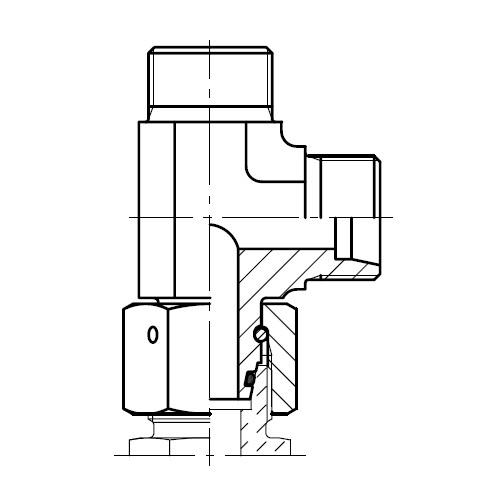 EL - hydraulická L spojka šroubení s kuželem