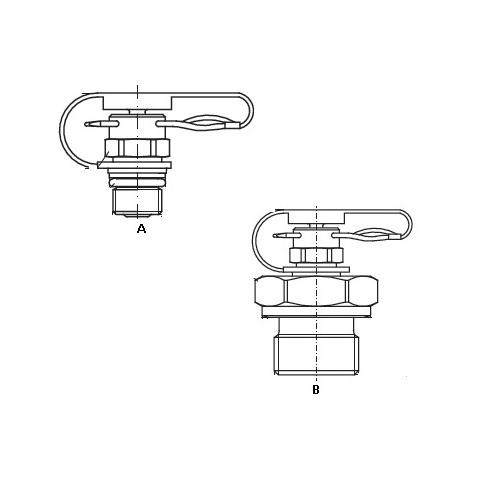Hydraulické měřící přípojky EMA1 pin-lock se závlačkou