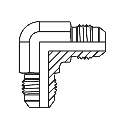 EMTX - hydraulická 90°úhlová spojka šroubení Triple-Lok® 37°