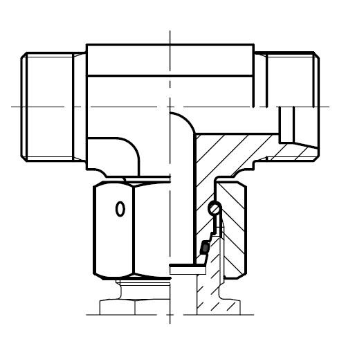 ET - hydraulická T spojka šroubení s kuželem