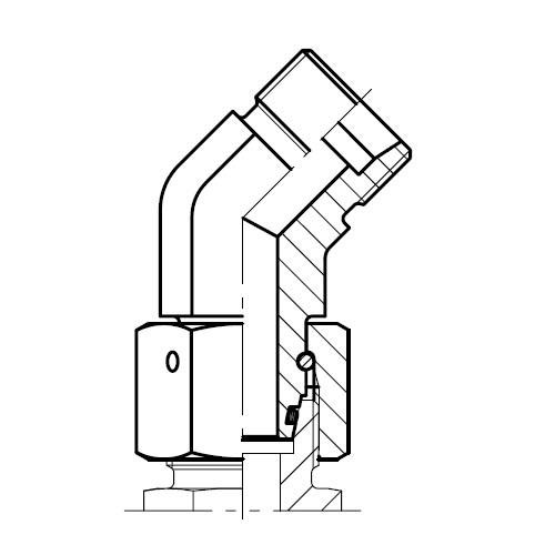 EV - hydraulické stavitelné 45° hrdlo s kuželem