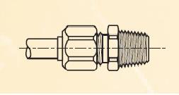 F3BM - nástrčný dvoudílný konektor mosazný Metrulok