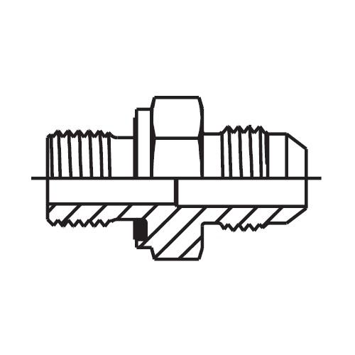 F42EDMX - hydraulické hrdlo Triple-Lok® 37°