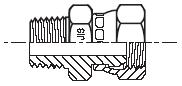 F63P4 - hydraulický adaptér přímý s otočnou maticí