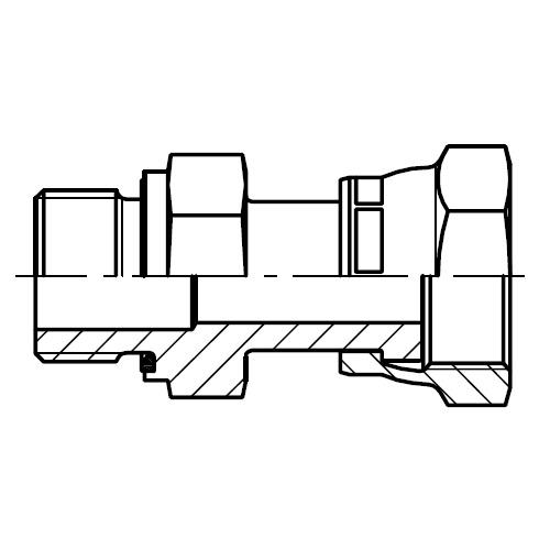 F642EDML - hydraulické dlouhé hrdlo s otočnou maticí O-Lok