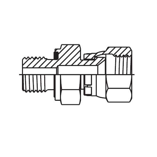 F642EDMX - hydraulické hrdlo s otočnou maticí Triple-Lok® 37°