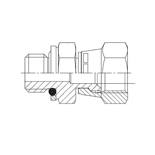 F64OMX - hydraulické hrdlo s otočnou maticí Triple-Lok® 37°