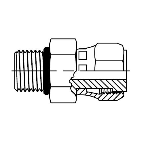 F65OL - hydraulické hrdlo s otočnou maticí O-Lok