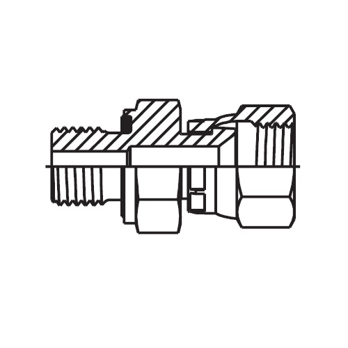 F682EDMX - hydraulické hrdlo s otočnou maticí Triple-Lok® 37°