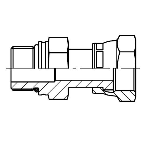 F687OML - hydraulické dlouhé hrdlo s otočnou maticí O-Lok