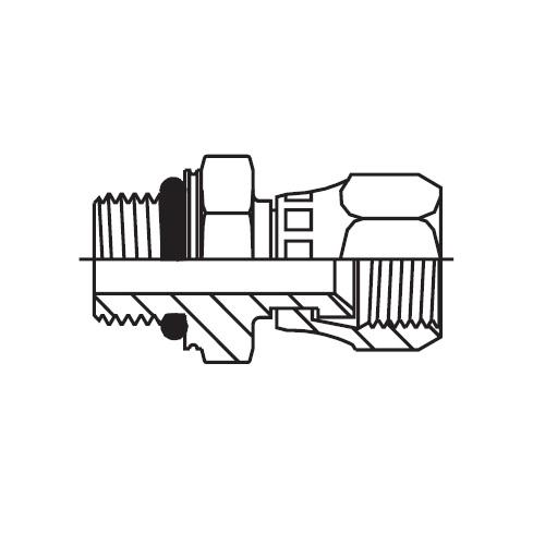 F687OMX - hydraulické hrdlo s otočnou maticí Triple-Lok® 37°