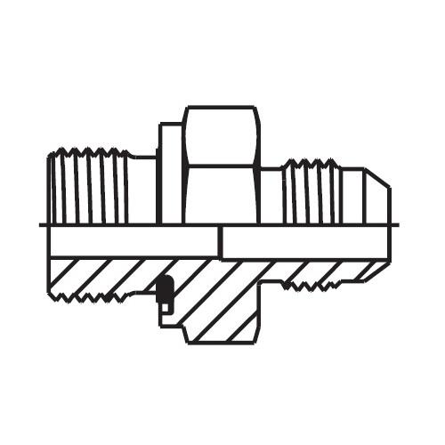 F82EDMX - hydraulické hrdlo Triple-Lok® 37°