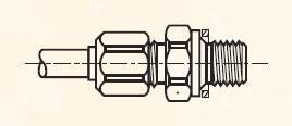 F8BM - nástrčný dvoudílný konektor mosazný Metrulok