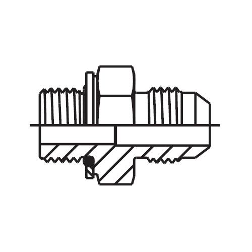 F8OMX - hydraulické hrdlo Triple-Lok® 37°