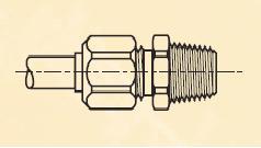 FBM - nástrčný dvoudílný konektor mosazný Metrulok