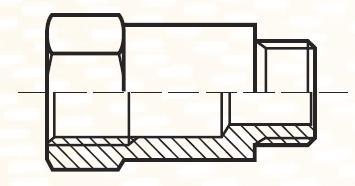 FF41G4BL - pneumatický přímý adaptér dlouhý redukovaný