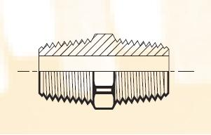 FF - pneumatický adaptér mosazný