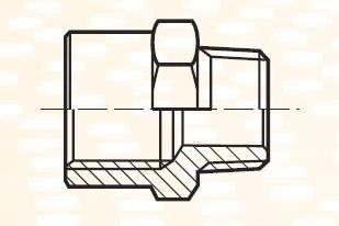 FG44BL - pneumatický přímý adaptér redukovaný