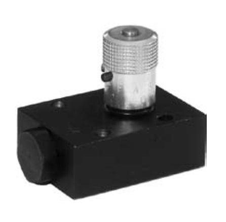 FS - zpětný a škrtící jehlový ventil s obdélníkovou deskou