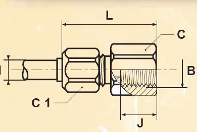 G4BM - nástrčný dvoudílný konektor mosazný Metrulok