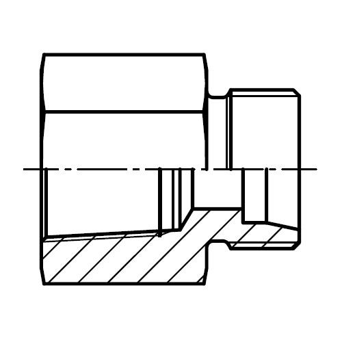 GAI-NPT - hydraulické přímé hrdlo šroubení