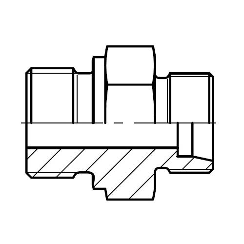 GE-R - hydraulické přímé hrdlo šroubení těsnění hranou