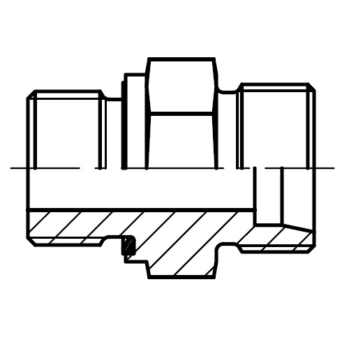 GE-R-ED - hydraulické přímé hrdlo šroubení ED-těsněním