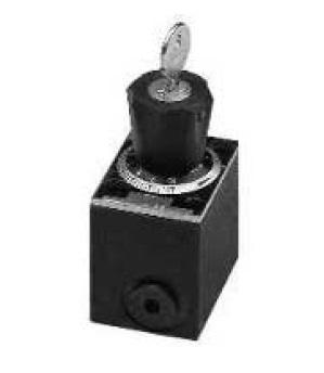 GFG2 - dvoucestný škrtící a zpětný ventil s obdélníkovou deskou
