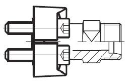 GFS - hydraulický přímý adaptér příruby šroubení