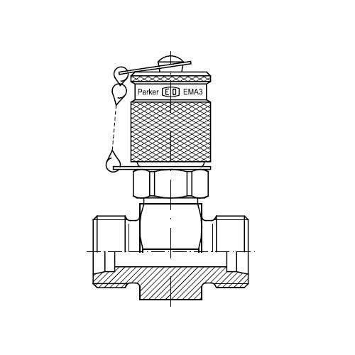 Hydraulické spojky s měřícím bodem GMA3 připojení M16x2