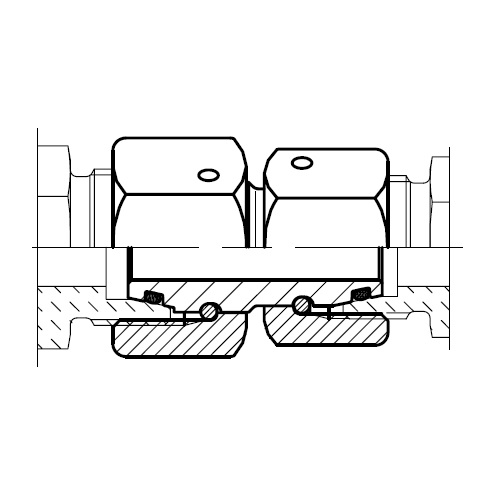 GZR - hydraulická redukční spojka s těsnícím kuželem