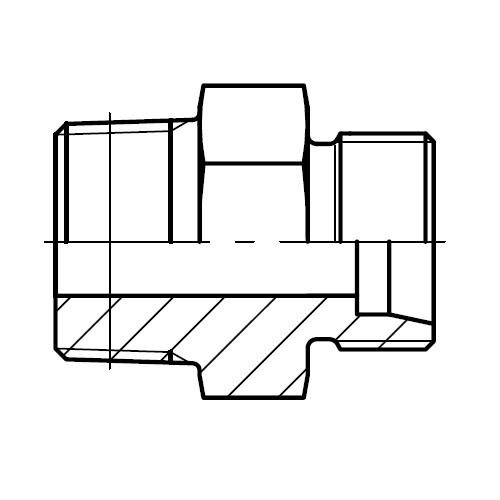 GE-M(KEG) - hydraulické přímé hrdlo šroubení kuželový