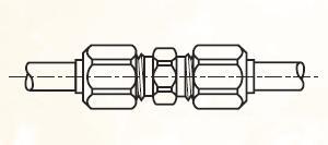 HBM - nástrčná dvoudílná spojka mosazná Metrulok
