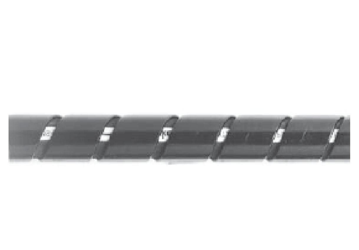 HG - polyuretanový chránič hadic spirálový-plochý pás