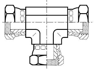 J6MK4 - hydraulický T adaptér s otočnou maticí Swivel