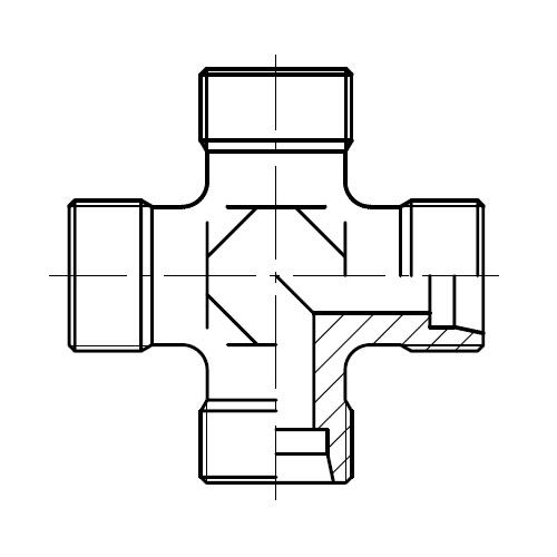 K - hydraulická křížová spojka šroubení