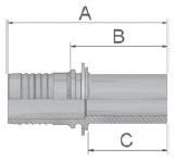 K1D47 - koncovka BEL středotlaká přímá nátrubek