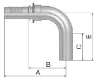 K5D47 - koncovka BEL středotlaká 90°úhlová nátrubek